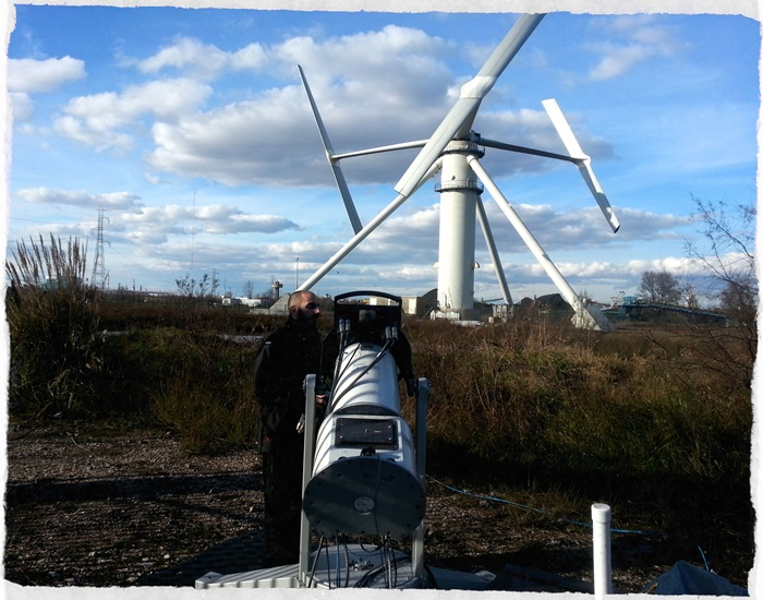 A lidar put up to test the wind turbine